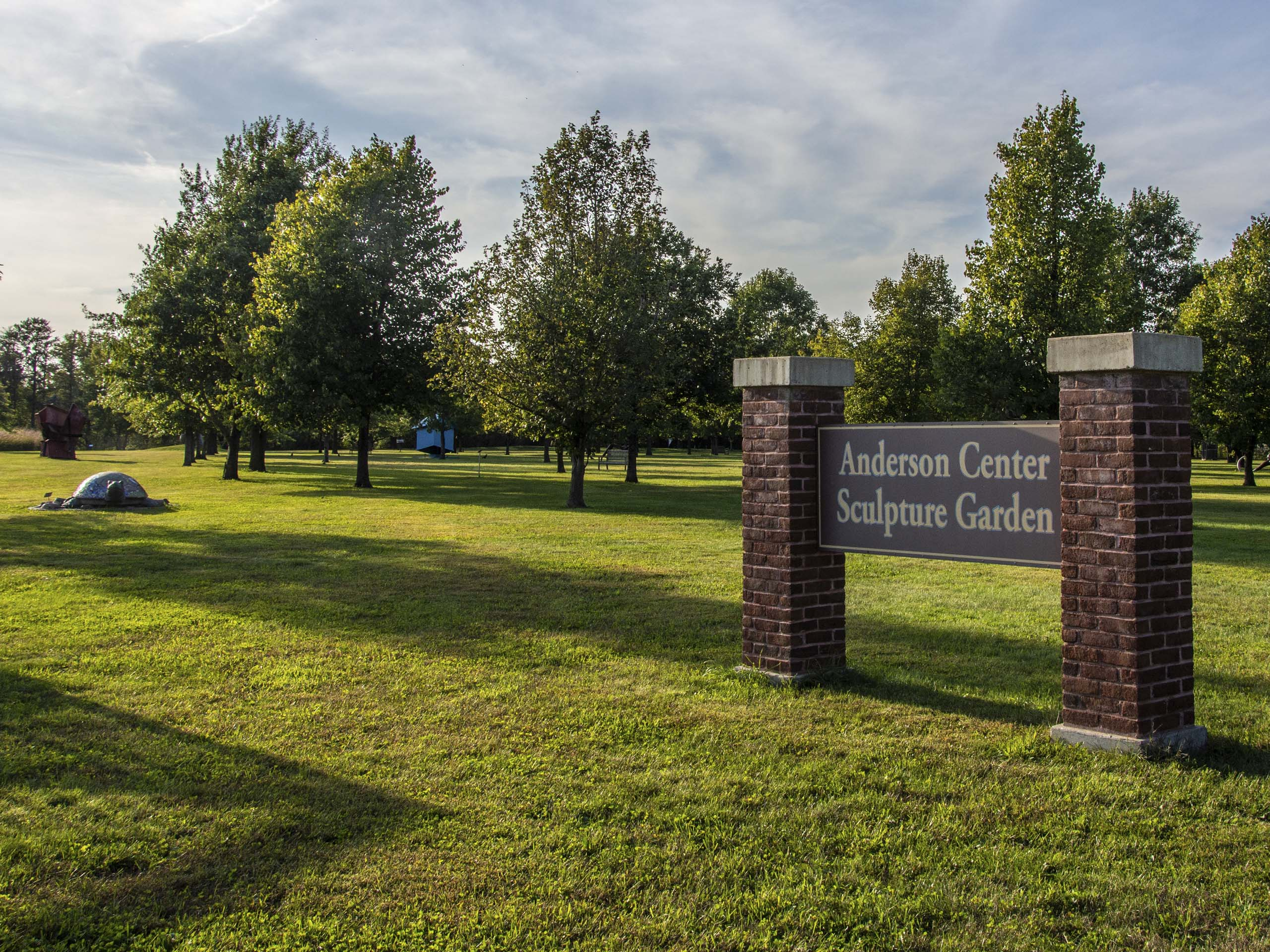 Entrance to the Anderson Center Sculpture Garden