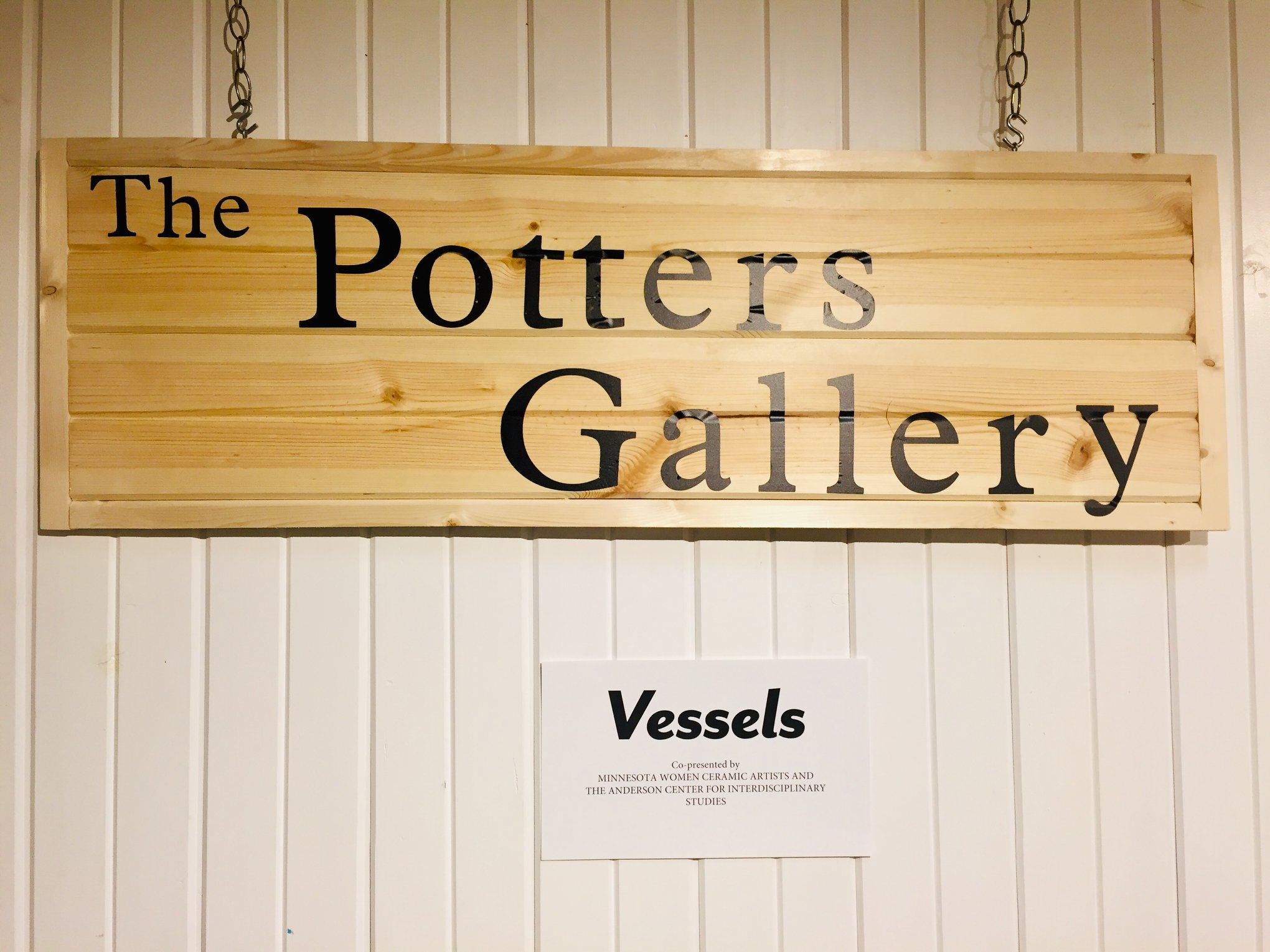 The Potters Gallery entrance sign